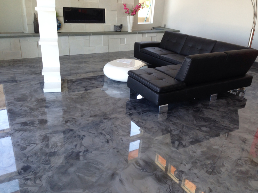 decorative concrete floors indoor